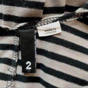 H&M Dresses - H&M grey & black stripped bodycon dress